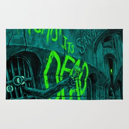 It Says Its Dead Poster Art Rug