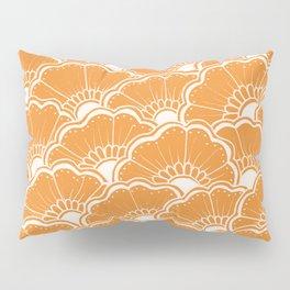 Hand-Drawn Summer Flowers: Orange Pillow Sham