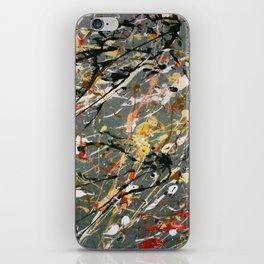 Jackson Pollock Interpretation Acrylics On Canvas Splash Drip Action Painting iPhone Skin