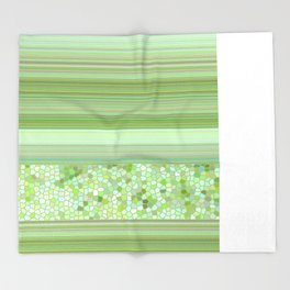 GRAPHIC POP - pastell green Throw Blanket