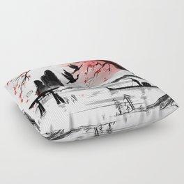 Japan dream Floor Pillow
