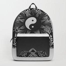Yin and Yang Mandala (Black & White) Backpack