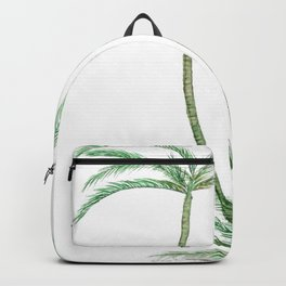 two palm trees watercolor Backpack