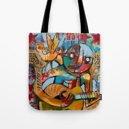 Playing By The Viaduct Tote Bag