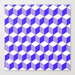 Diamond Repeating Pattern In Nebulas Blue and Grey Canvas Print