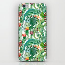 chameleon cacti pattern iPhone Skin