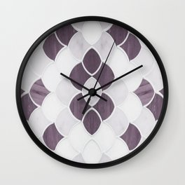 Moroccan Scalloped Flower Plum Wall Clock