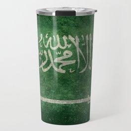 Flag of  Kingdom of Saudi Arabia - Vintage version Travel Mug