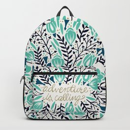 Adventure is Calling – Navy & Mint Palette Backpack
