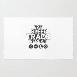 Eat sleep trade litecoin repeat Rug