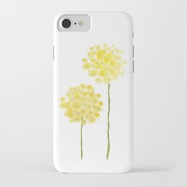 two abstract dandelions watercolor iPhone Case