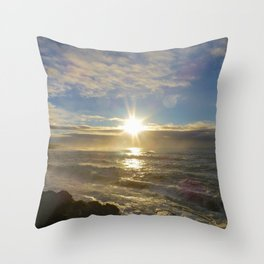 Storm Subsiding Throw Pillow