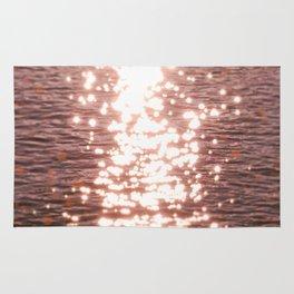 Sun glitter - blush gold Rug