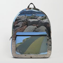 At the Bay of St. Tropez, France Backpack