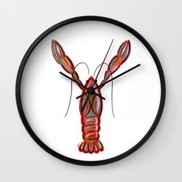 King Crawfish Wall Clock