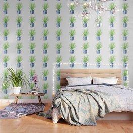 Ginger Jar + Fan Palm Wallpaper