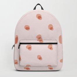peach pink blobs Backpack
