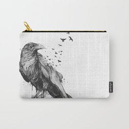 Born to be free (bw) Carry-All Pouch