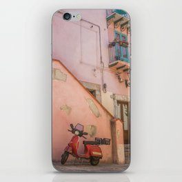 Red Scooter in Sicily iPhone Skin