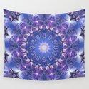 Deep Blue and Purple Fractal Mandala by kellydietrich