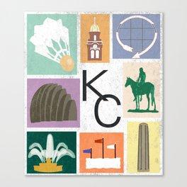 Kansas City Landmark Print Canvas Print