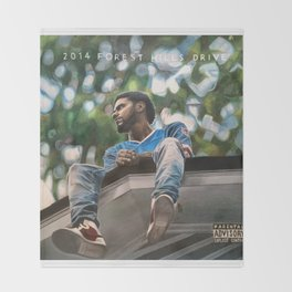 J.Cole 2014 Forest Hills Drive Drawing Throw Blanket