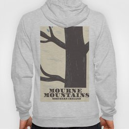 mourne mountains northern ireland travel poster Hoody