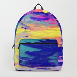 Neon Mimosa Inspired Painting Backpack
