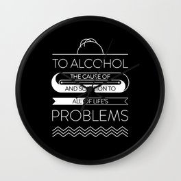 To alcohol! Wall Clock