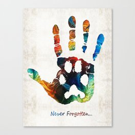 Rainbow Bridge Art - Never Forgotten - By Sharon Cummings Canvas Print