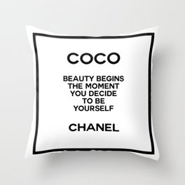 coco quote no. 14 Throw Pillow