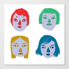 The Powerful Female Heads Canvas Print