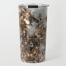 Pyrite and Quartz Travel Mug
