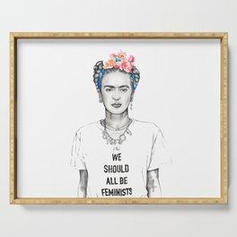 Frida Kahlo Feminist Serving Tray