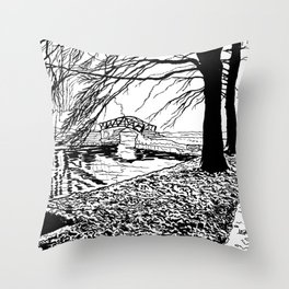 Et le jardin apparut  / And the garden appeared Throw Pillow
