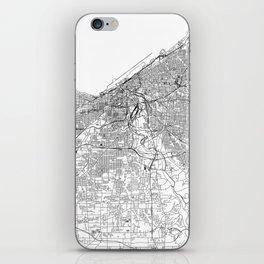 Cleveland White Map iPhone Skin