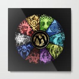 Magic the Gathering - Faded Guild Wheel Metal Print