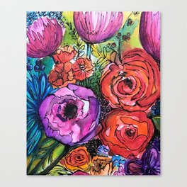 """""""Full Bloom"""" Floral Canvas Print"""