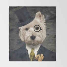 Sir Bunty Throw Blanket