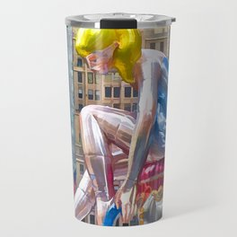 Seated Ballerina at Rockefeller Center 1 Travel Mug