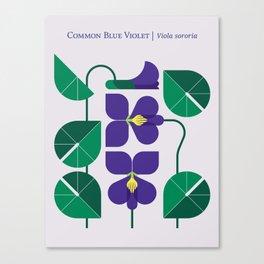 Blue Violet Canvas Print