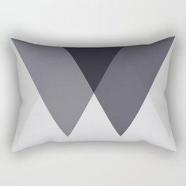 Sawtooth Blue Grey Rectangular Pillow