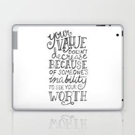 Your Value Quote - Hand Lettering Black Ink Laptop & iPad Skin