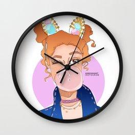 Mahogany Lox Wall Clock