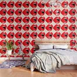 Red Lips #society6 #decor #buyart Wallpaper
