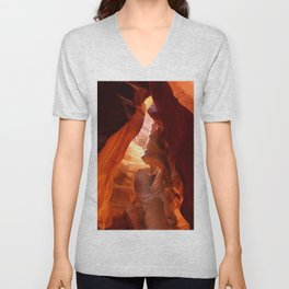 A Canyon Sculptured By Water Unisex V-Neck