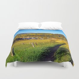 Path down to the village Duvet Cover
