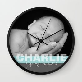 Custom Photo Pillow for baby Wall Clock