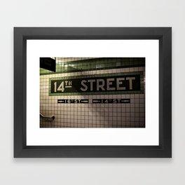 14th Street Station Framed Art Print