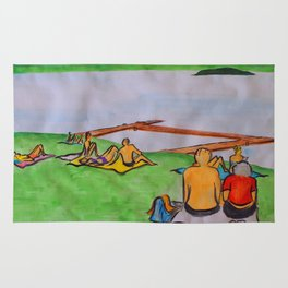 Dreaming of lazy summer afternoons on the banks of Lake Mälaren Rug